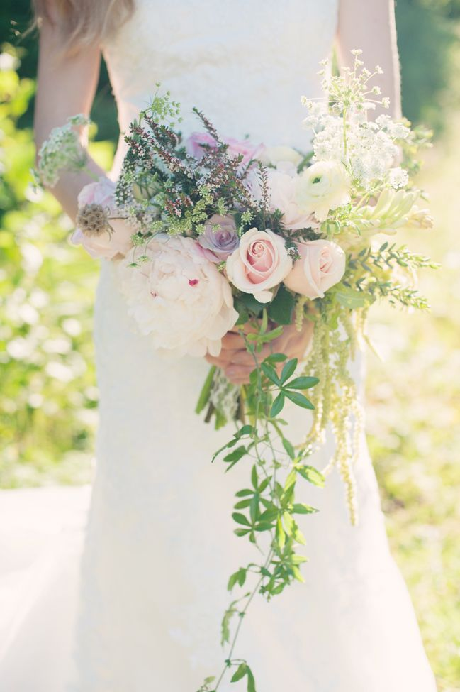 gorgeous cascading bouquet