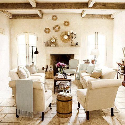 Living room by Suzanne Kasler for Ballard Designs