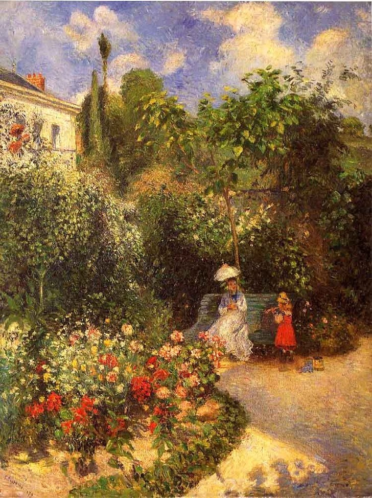 The Garden in Pontoise - Camille Pissarro