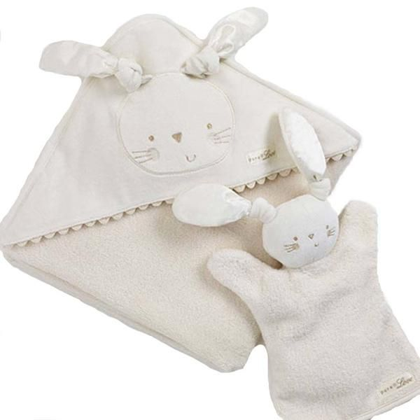 Natures Purest - organic personalized baby bathing towel in gift box - PetitePeople, Baby Bath towel