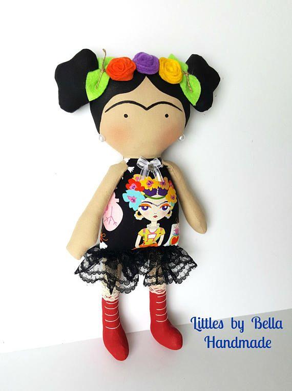 Frida Kahlo toy doll Tilda toy children la casa azul Frida