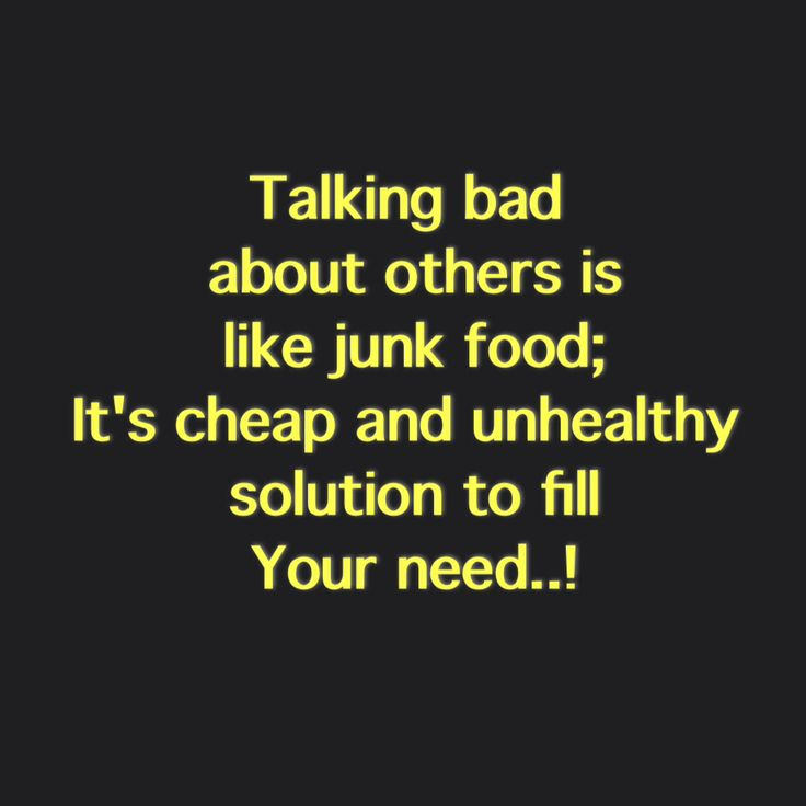 Talking Bad About Others