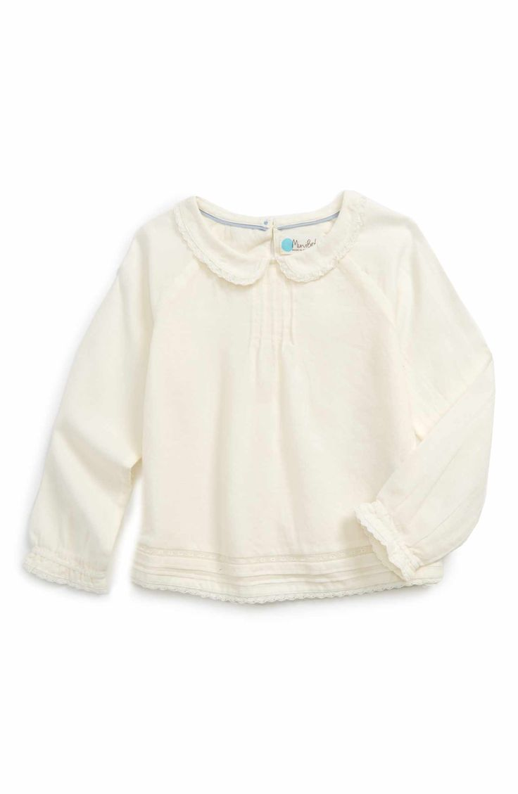 kdimoffphotography.com outfit ideas Main Image - Mini Boden Pleated Top (Toddler Girls, Little Girls & Big Girls)