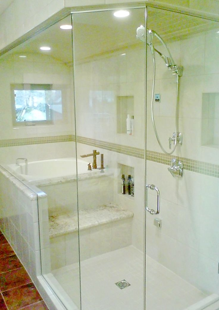 Walk in shower with japanese soaking tub just the layout - Soaking tubs for small bathrooms ...