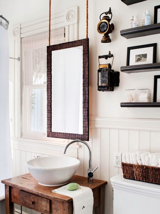 bathroom design fantastic bathroom decorative mirror with bowl sink and towel basket on chic wooden