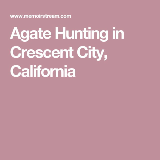 Agate Hunting in Crescent City, California