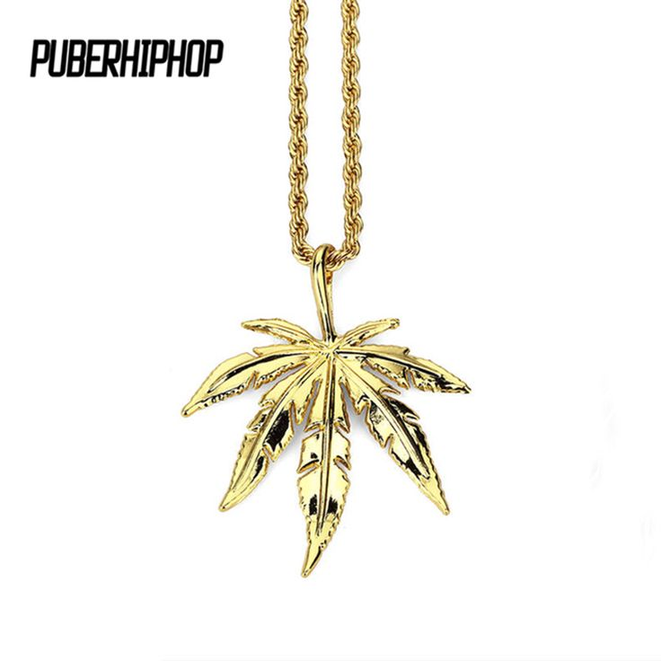 Hemp Leaf Gold/Silver Color Cool Necklace //Price: $16.62 & FREE Shipping //     #cannalovers
