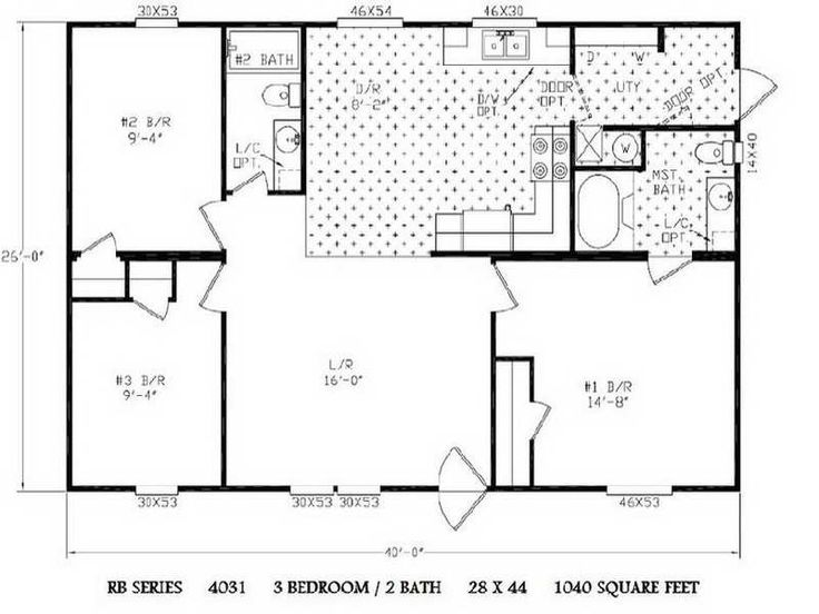 19 best double wide mobile home floor plans images on for Completely open floor plans
