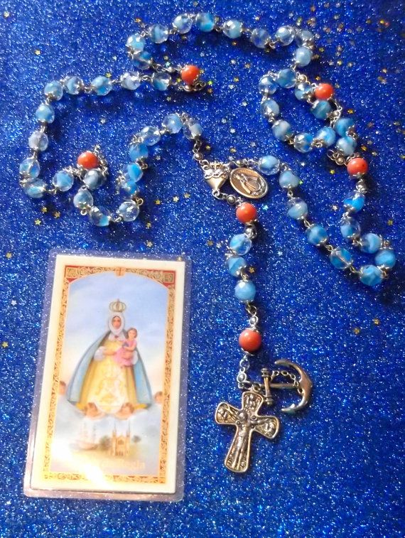 Yemaya Asesu Rosary by bovedabeads on Etsy
