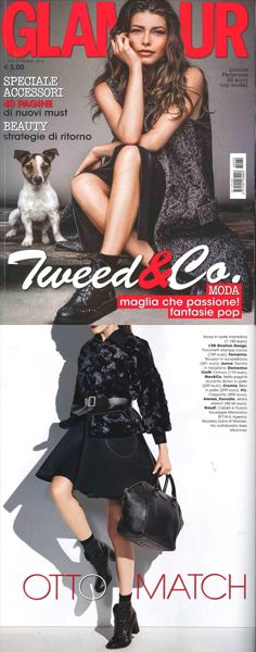 #Ledemotiondesign on Glamour Italia magazine!  #handbags #press #bags #LED #persefone