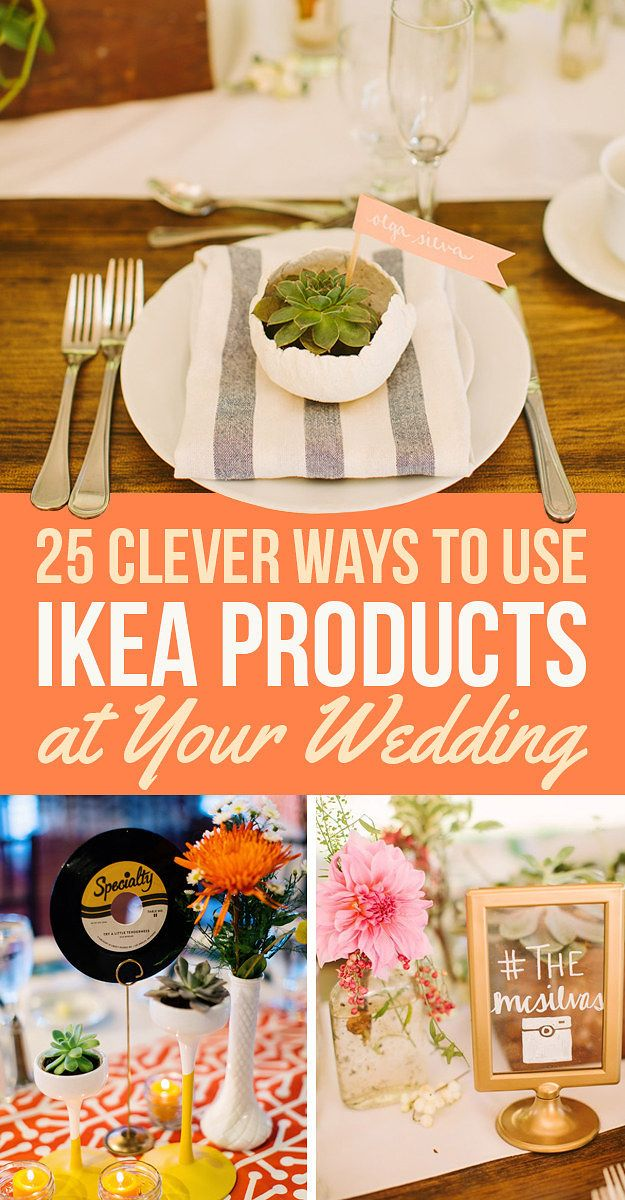25 Clever Ways To Use Ikea Products At Your Wedding