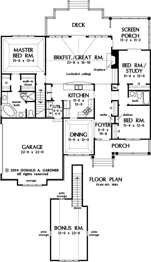 charming house plans designs direct #5: The Gresham House Plans First Floor Plan - House Plans by Designs Direct.