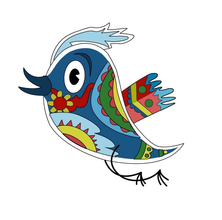 Madhu the first Bihari Twitter Bird-inspired by the world famous Madhubani Art from Bihar.