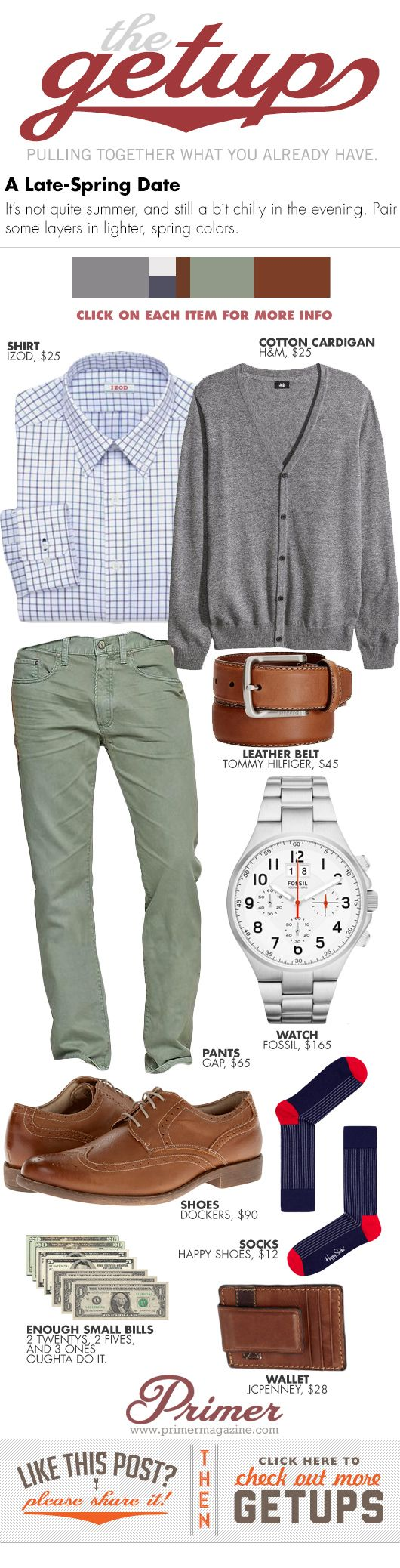 The Getup: Late-Spring Date - Primer #casual #menstyle #menswear