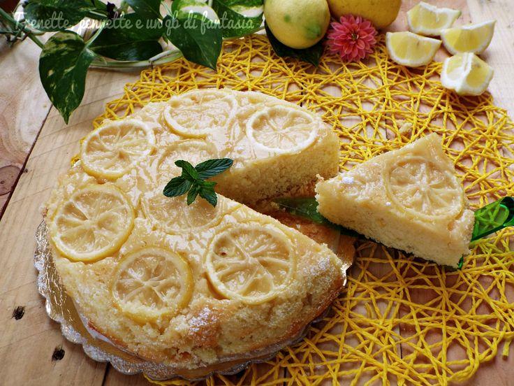 Torta rovesciata al mascarpone con bucce di limone