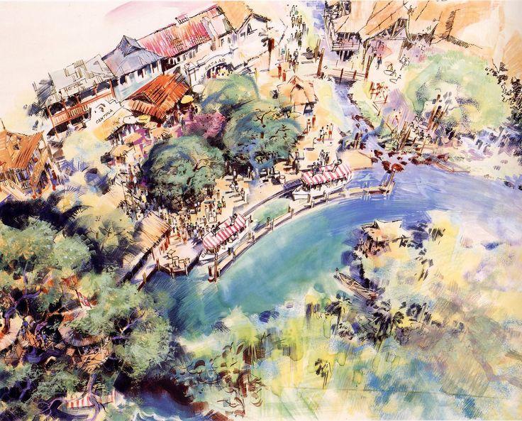 Jungle Cruise, Disneyland - Herb Ryman