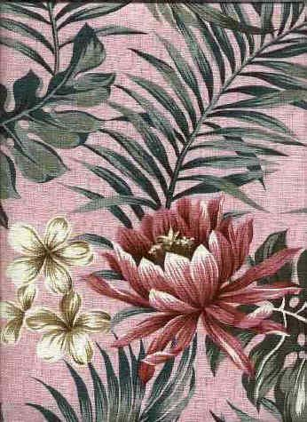 60loke Tropical Hawaiian orchid & plumeria flowers, cotton barkcloth fabric. Add Discount code: (Pin10) in comment box at check out for 10% off sub total at BarkclothHawaii.com