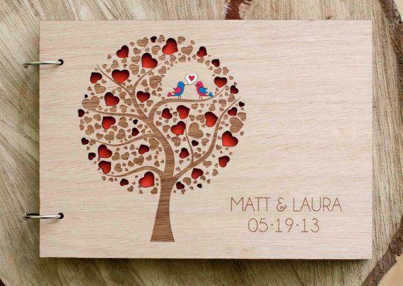 Custom Wedding guest book wood rustic wedding by TotallySalinda, $44.00