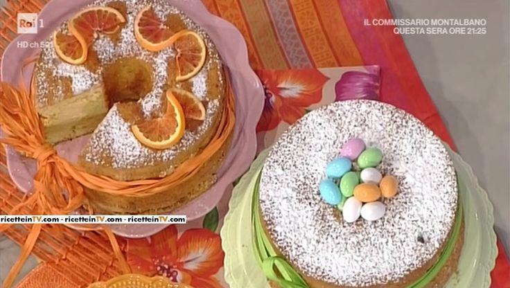 """La ricetta della chiffon cake all'arancia di Natalia Cattelani del 13 marzo 2017, a """"La prova del cuoco""""."""