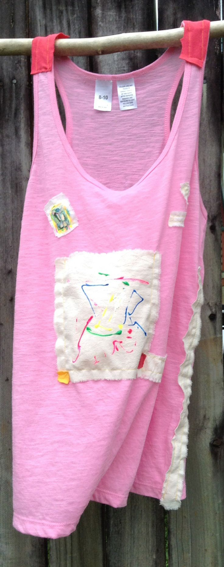 hand decorated tee top