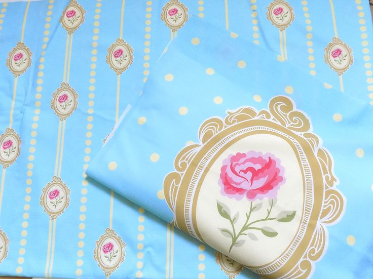 Schabby Chic Rose Ready Panel  Cushion or Fabric in Cute romantic Style Craft DIY 100% Cotton Quilting  DIY Craft Panel