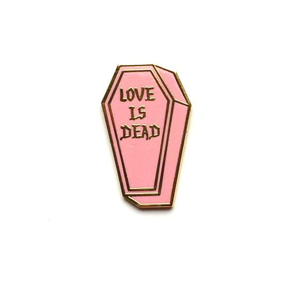 1 PINK Love is Dead 1 LIMITED EDITION of 50 laser by PenelopeGazin