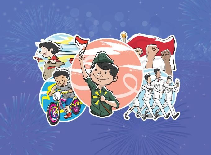 Path: Indonesia Independence Day sticker pack