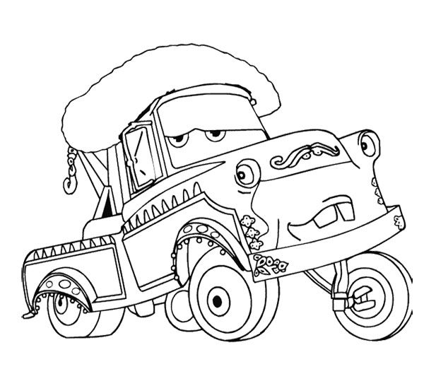free cars cartoon coloring pages | 17 Best images about Coloring Pages {Cars} on Pinterest ...