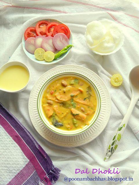 Annapurna: Gujarati Dal Dhokli Recipe / Whole Wheat Pasta in Lentil Stew