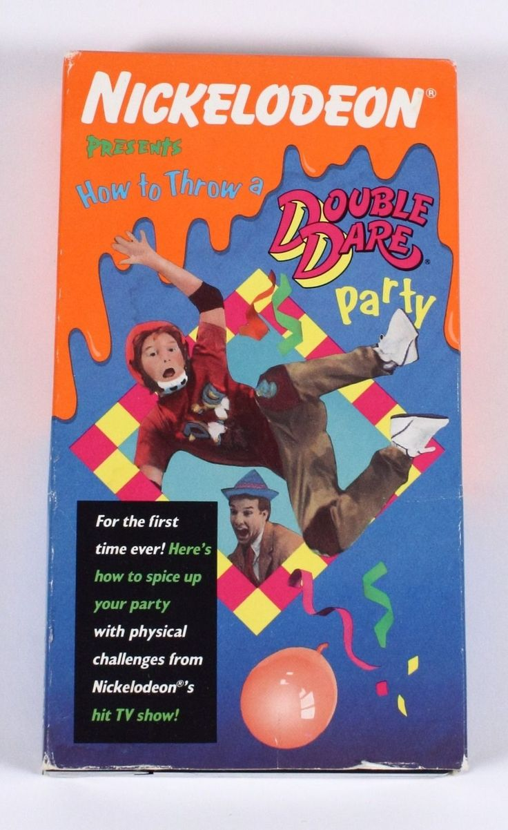 HTF Nickelodeon Presents How to Throw A Double Dare Party VHS 1989 085364900135 | eBay