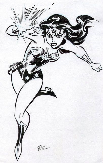 AWESOME WARNING: Wonder Woman by Bruce Timm #PunisherApproved