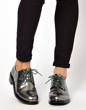 Cheap Monday Go Oxford Lace Up Flat Shoes $175.60