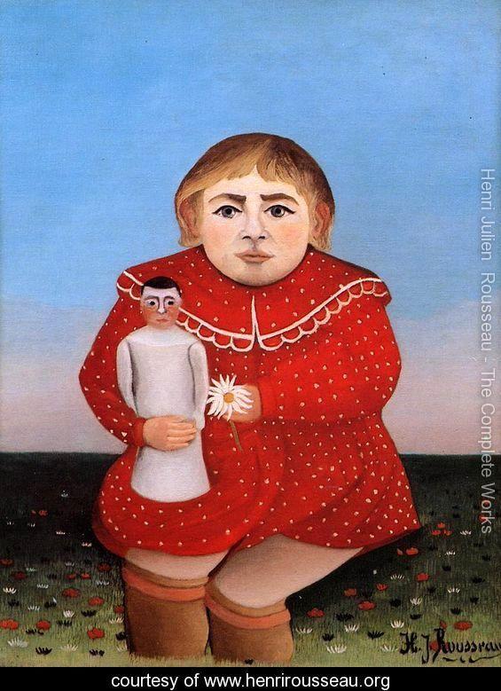 Child with Doll - Henri Julien  Rousseau - www.henrirousseau.org