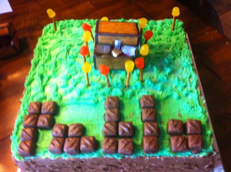 Easy minecraft cake idea