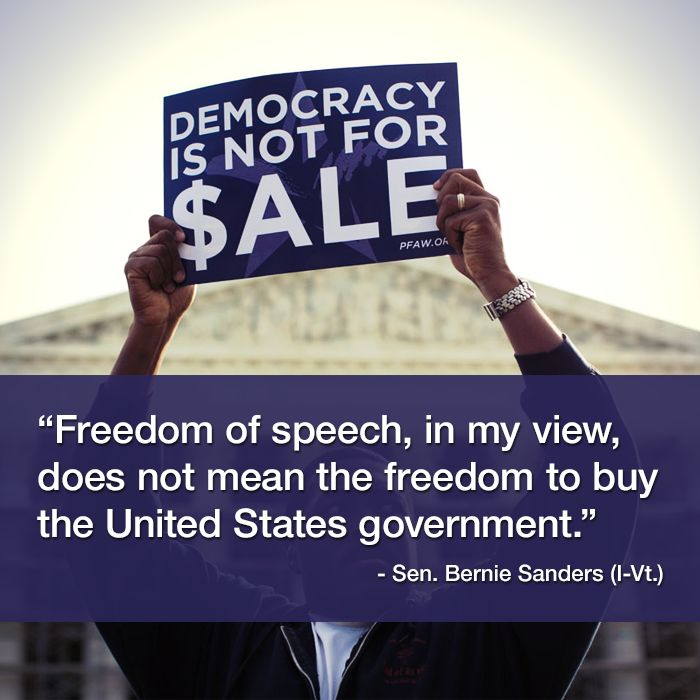 Sadly...Democracy IS for sale and has been sold to the Koch suckers of the .0001% Enjoy your new Oligarchy. Thank the Supreme Court and it's Conservative puppets on the bench.