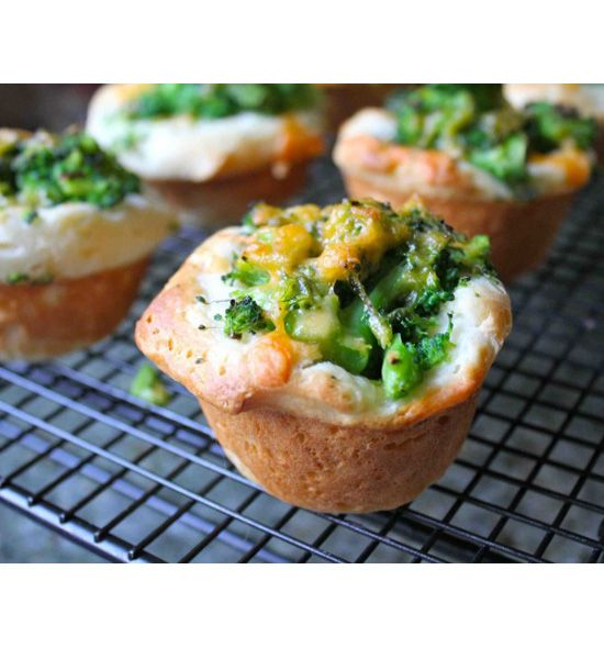 Broccoli Cheddar Biscuit Muffins: With the help of Trader Joe's biscuits, you can easily whip up these broccoli cheddar biscuit muffins. A delicious snack that sneaks in a load of veggies, too!  Source: Cooking With My Kid