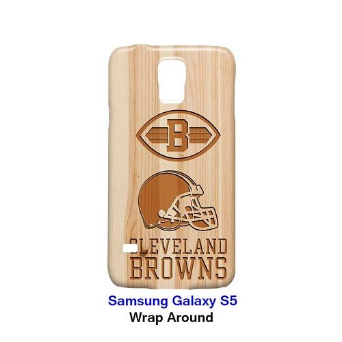 Cleveland Browns Style Wood 2 Case for Samsung Galaxy S5