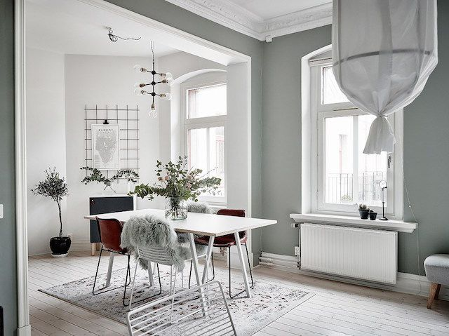 A Swedish home in calming green
