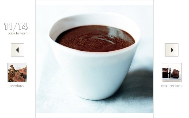 Mocha Mousse with Sichuan Peppercorns Recipe: #Coffee and chocolate go hand in hand, as do chiles and chocolate. Mix them together, and you get hints of spiciness, bitterness, and sweetness in a smoothly textured dessert.