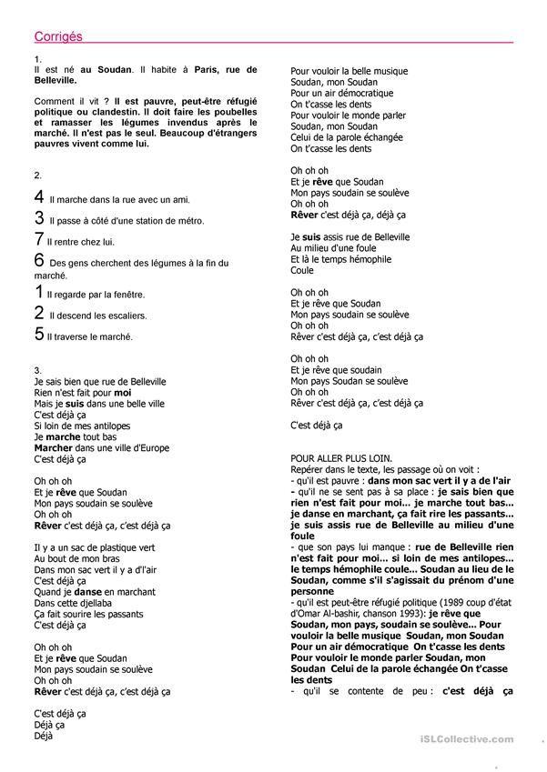 Alain Souchon C'est Déjà Ca : alain, souchon, c'est, déjà, C'est, Déjà, Alain, Souchon, Paroles, Chansons,, Chanson,, Fiches, Pédagogiques