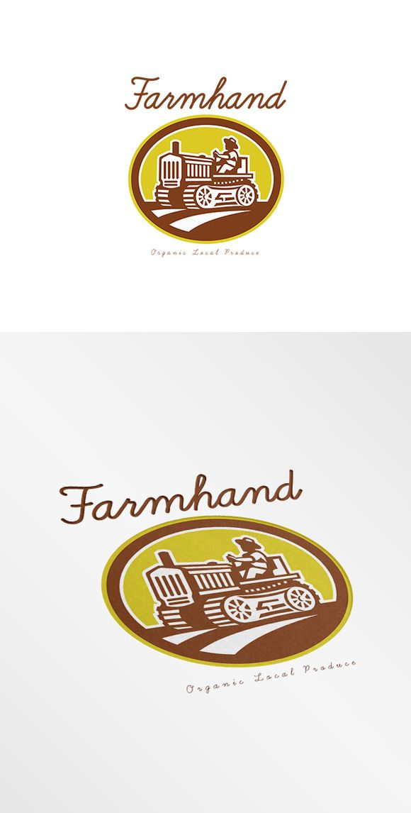 Farmhand Local Organic Producer Logo by patrimonio on Creative Market