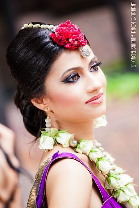Large flower Indian bridal tikka by t'anirika via IndianWeddingSite.com