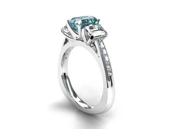 14K White Gold and Sapphire Ring, $3999 | 25 Stunning Engagement Rings That Aren't Made With Diamonds