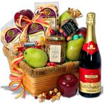 A Sophisticated Spread - Fruit Gift Basket- International Fruit Basket delivery - send Fruit Baskets overseas.
