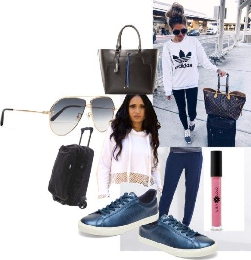 Steal Her Style: Hollie Woodward. Airport style should be comfy, chic, and sustainable. This is a sustainable fashion alternative to Hollie's travel look.