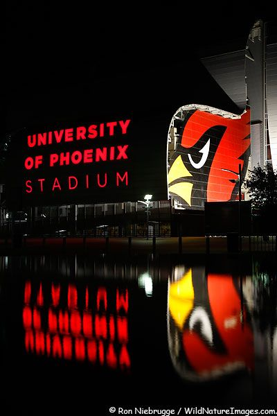 University of Phoenix Stadium, home of the professional NFL football team Arizona Cardinals. Glendale, Arizona