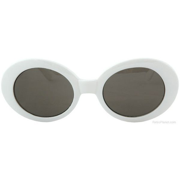 J.O. Retro Glasses White with Smoke Lenses | Novelty Glasses |... (9.23 AUD) ❤ liked on Polyvore featuring accessories, eyewear, sunglasses, glasses, white, oversized sunglasses, oval sunglasses, dark lens sunglasses, retro style glasses and retro sunglasses