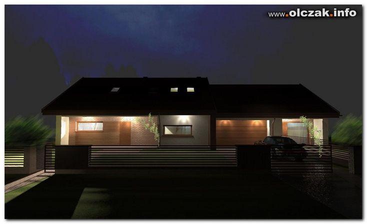 Architekt Maciej Olczak - projekt domu z częścią usługową