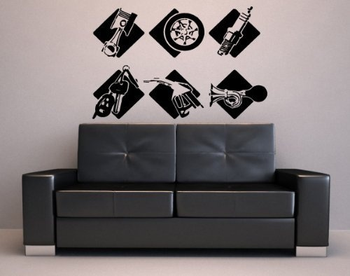 Wall Stickers Vinyl Decal GAS STATION AUTO SHOP SIGNAGE