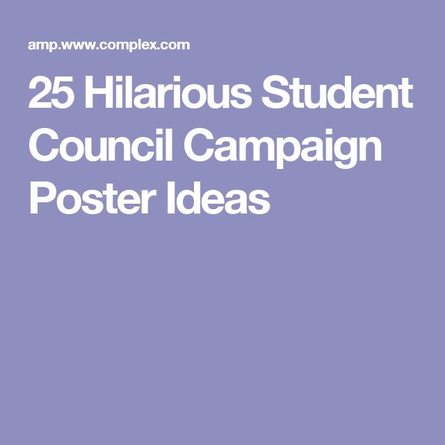 25 Hilarious Student Council Campaign Poster Ideas